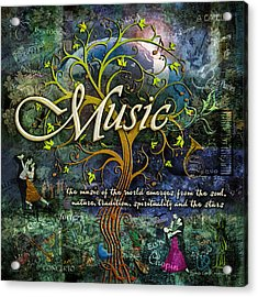 Music Acrylic Print by Evie Cook