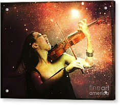 Music Explodes In The Night Acrylic Print