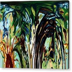 Music In Bird Of Tree Drip Painting Acrylic Print