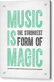 Music Is Magic Acrylic Print by Aged Pixel