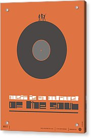 Music Is The Soul Poster Acrylic Print