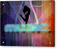 Acrylic Print featuring the digital art Music by John Swartz