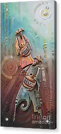 Music Makers Acrylic Print by Omidiran Gbolade