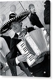 Music-mariachi Accordionist Acrylic Print