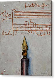 Music Acrylic Print by Michael Creese