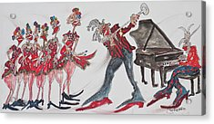 Music Moves The Groove Acrylic Print by Suzanne Macdonald