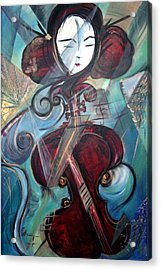 Acrylic Print featuring the painting Music Of My Life by Dorothy Maier