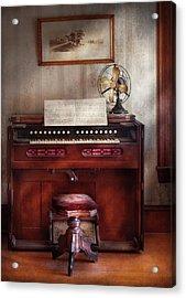 Music - Organist - My Grandmothers Organ Acrylic Print by Mike Savad