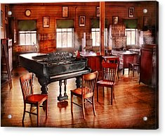 Music - Piano - The Grand Piano Acrylic Print by Mike Savad