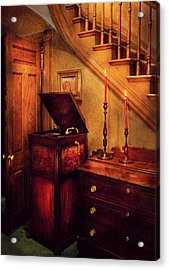 Music - Record - The Victrola Acrylic Print by Mike Savad