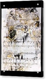 Music Score From The Titanic Acrylic Print by Science Photo Library