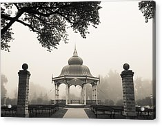 Music Stand In Fog Acrylic Print
