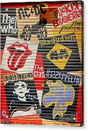 Music Street Art Color Acrylic Print by Luciano Mortula