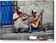 Music-street Musicians Acrylic Print