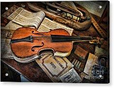 Music - The Violin Acrylic Print by Paul Ward
