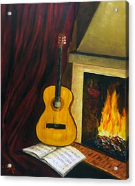 Acrylic Print featuring the painting Music Warms The Soul by Persephone Artworks
