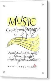 Music Was My Refuge Acrylic Print