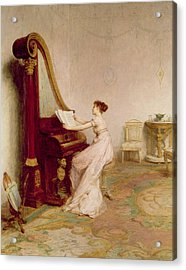 Music When Soft Voices Die, Vibrates Acrylic Print by Sir William Quiller Orchardson