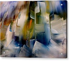 Acrylic Print featuring the painting Music With Paint by Lisa Kaiser
