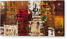 Music World Tour Acrylic Print by Carmen Guedez