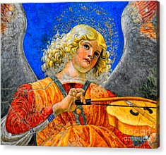 Musical Angel Basking In The Light Of Heaven 2 Acrylic Print