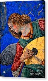 Musical Angel Basking In The Light Of Heaven 3 Acrylic Print by Nigel Fletcher-Jones