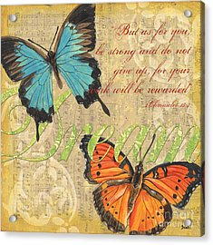 Musical Butterflies 1 Acrylic Print by Debbie DeWitt