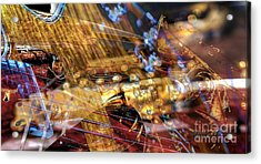Musical Confusion Digital Guitar Art By Steven Langston Acrylic Print by Steven Lebron Langston