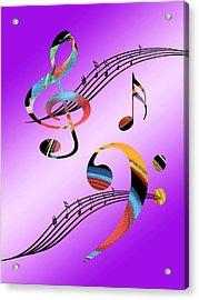 Musical Illusion Acrylic Print