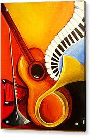 Musical Instruments Acrylic Print by Rajni A