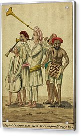Musical Instruments Used At Processions Acrylic Print by British Library