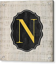Musical Monogram Acrylic Print