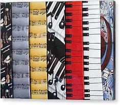 Musical Motifs Acrylic Print by Ann Horn