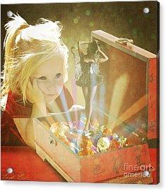 Musicbox Magic Acrylic Print by Linda Lees