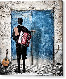 Musician At The Door Acrylic Print by Nermin Smajic