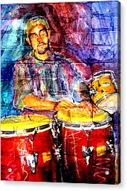 Musician Congas And Brick Acrylic Print