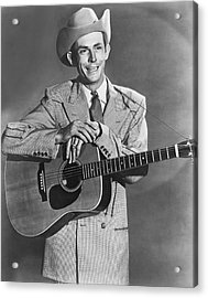 Musician Hank Williams Acrylic Print by Underwood Archives