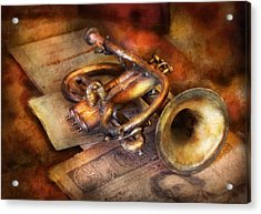 Musician - Horn - Toot My Horn Acrylic Print by Mike Savad