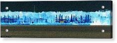 Muskegon Lake View Of Drydocked Sailboats At The Marina Acrylic Print by Rosemarie E Seppala