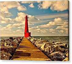 Muskegon South Pier Light Acrylic Print