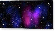 Musketball Galaxy Cluster Acrylic Print by X-ray: Nasa/cxc/caltech/a.newman Et Al/tel Aviv/a.morandi & M.limousin; Optical: Nasa/stsci, Eso/vlt, Sdss
