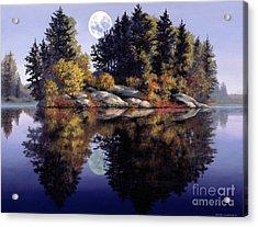Muskoka  Moon Acrylic Print by Michael Swanson