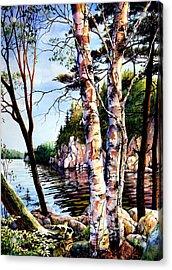 Muskoka Reflections Acrylic Print by Hanne Lore Koehler