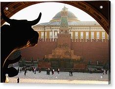 Muscovite Bulls 2 Acrylic Print by Juozas Mazonas