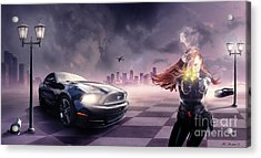 Acrylic Print featuring the photograph Mustang by Bruno Santoro