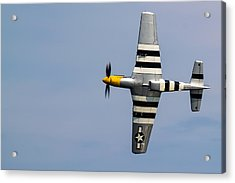 Acrylic Print featuring the photograph Mustang Flyby D-day by Scott Lyons