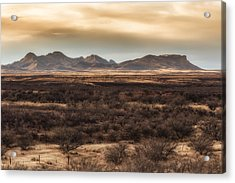 Acrylic Print featuring the photograph Mustang Mountains by Beverly Parks