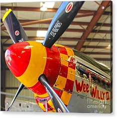 Mustang P-51d Wee Willie Acrylic Print by Gregory Dyer