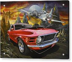 Mustangs 3 Acrylic Print