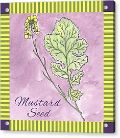 Mustard Seed  Acrylic Print by Christy Beckwith